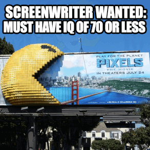 pixels movie billboard