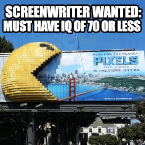 pixels movie billboard